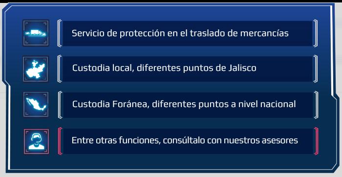 B UNIT elementos de seguridad custodias info