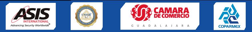 B UNIT elementos de seguridad guardias certificaciones logos